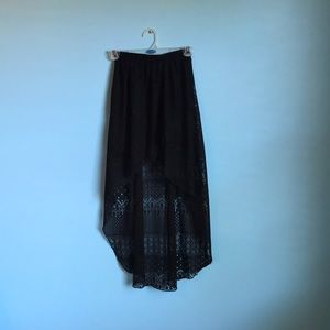 Highlow lace skirt